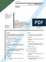 NBR 9819 - Piscina - Classificação