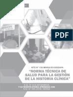 Norma Tecnica de Salud para la Gestion de la Historia Clinica
