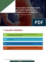 Efectos de La Gravedad ,Microgravedad en Embriones