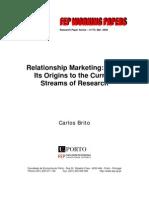 Marketing Relacional, origenes de las escuelas de pensamiento