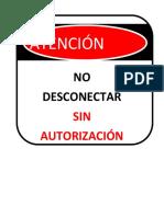 No Desconectar