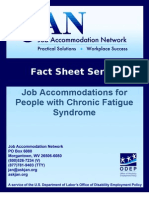 Chronic Fatigue Fact Sheet