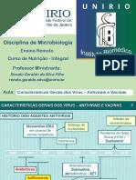Aula 7.4 - Caracteristicas Gerais dos Virus - Antivirais e Vacinas