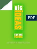 Big Ideas for the Future