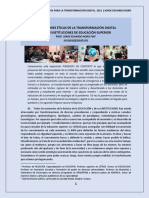 392. DIMENSIONES ETICAS DE LA TRANSFORMACION DIGITAL