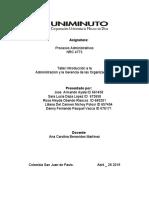 taller Procesos administrativos
