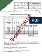 Devoir de Contrôle N°1 - Informatique - Bac Economie  Gestion (2010-2011) Mr Bassem OUALHA