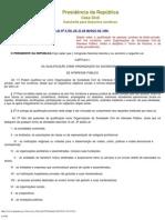 L9790 Qualificação de pessoas jurídicas de direito privado, sem fins lucrativos
