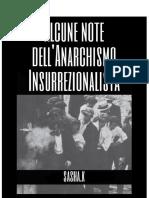 Alcune note dell'anarchismo insurrezionalista- Sasha K.
