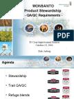 Monsanto Trait QA requirements2010