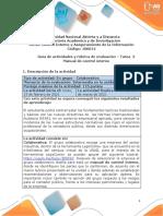 2. Guía de actividad y rúbrica de evaluación - Unidad 1 - Tarea 2 - Manual de control interno