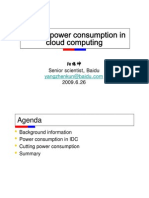 Cutting power consumption in cloud computing