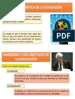 TEORÍA CRÍTICA DE LA EDUCACIÓN