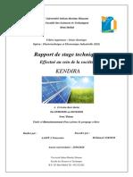 Etude et dimensionnement d'un système de pompage solaire