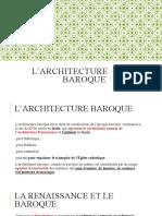 L'Architecture Baroque