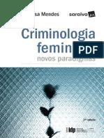 Criminologia Feminista Novos Paradigmas - 2ª Edição - Soraia da Rosa Mendes - 2017