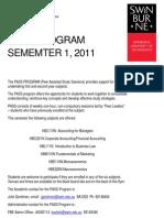PASS Flyer Sem 1 2011