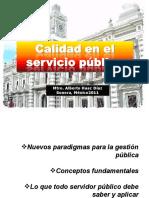 Calidad en el servicio publico