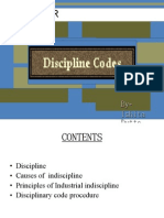 CODE OF DISCIPLINARY