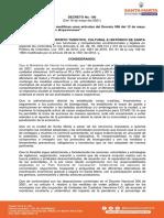 Decreto 100 del 18 de mayo en Santa Marta