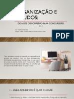 Organização e estudos 1.0