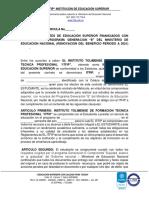 Modelo Contrato de Matricula Semeste a 2021