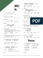 teoria de exponentes y polinomios