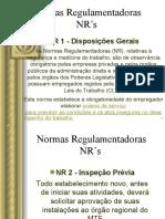 NORMAS REGULAMENTADORAS NR'S