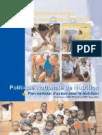 Politique Nationale de Nutrition et plan national d'action pour la nutrition (ONN-2004)