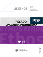 Informe Ethos 76- Pecado, palabra prohibida?