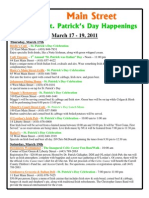 St. Patrick's Day happenings in Westminster Maryland