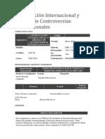 Contratación Internacional y Arreglo de Controversias Internacionales