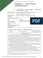 Séquence pédagogique n° 1 - Tronc commun - Module 1 _ La typologie textuelle - Le blog n° 1 des fiches pédagogiques de français collège _ lycée.pdf · version 1