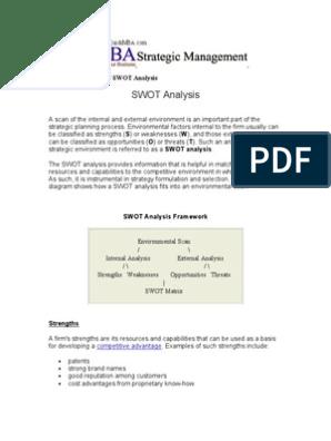 strategic analysis example
