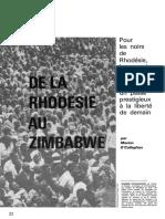 Unesco - De la Rhodésie au Zimbabwé