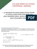 Titolazioni Acido Debole-base Forte