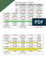 Cronograma Reuniões de Trabalho