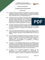 Resuelto de la CES de Aprobacion de Tecnologia Superior en Emergencias Medicas ITB
