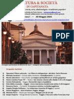 Cultura & Società in Capitanata N. 25 Del 20-05-2021
