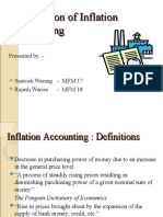 Application of Inflation Accounting