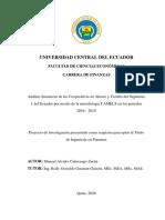 Analisis Financiero Cooperativas Metodo Camels