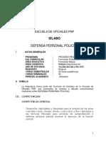 SÍLABO DEFENSA PERSONAL POLICIAL