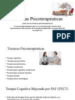 Técnicas Psicoterapéuticas