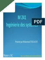 Cours is 3 Introduction à l'Ingénierie Système