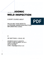 UT Weld Inspection