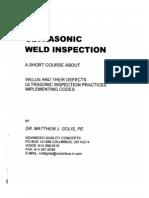 UT Weld Inspection