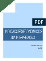 Indicadores Económicos_sua interpretação