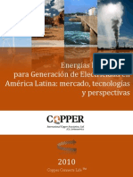 Energias Renovables para Generacion de Electricidad en America Latina