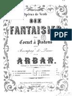Arban Jean Baptiste Fantaisies Sur Les Operas Verdi Lombardi 62185