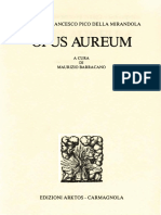 Giovanni Francesco Pico della Mirandola, a cura di Maurizio Barracano - Opus aureum-Arktos - Carmagnola (1979)